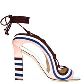 Paula Cademartori Crazy Stripes sandals - women - Calf Leather/Leather/Suede - 36