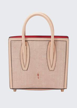 Christian Louboutin Paloma Mini Empire Canvas Tote Bag