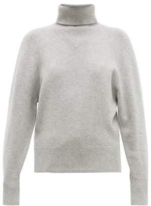Joseph Ribbed Roll-neck Wool-blend Sweater - Womens - Grey