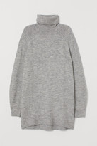 H&M Long Turtleneck Sweater - Gray