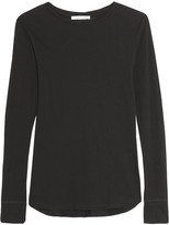 Helmut Lang Cotton And Cashmere-blend Jersey Top - Black