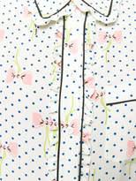 Miu Miu printed frill-trim shirt