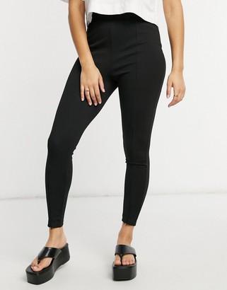 ASOS DESIGN super skinny ponte pant with zips