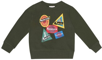 Moncler Enfant Embellished cotton sweater