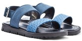 Fendi Navy Logo Sandal