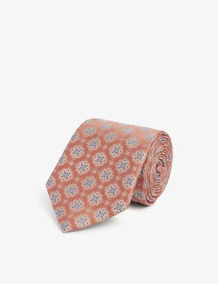 Eton Medallion woven silk tie