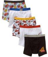 Cars Disney Toddler Boys' 5-Pack Boxer Briefs Underwear Lightning McQueen