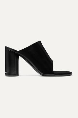 Balenciaga Leather Mules - Black