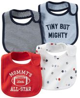Carter's Baby Boy 4-pk. Sporty & Striped Bibs
