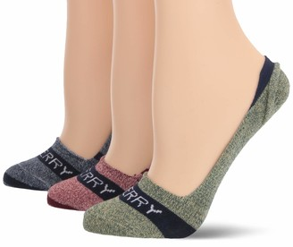 Sperry Women's Invisible Solid Liner 3-Pair Socks