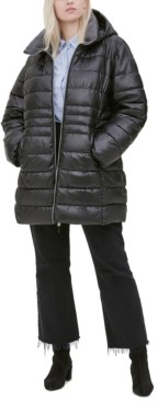 Andrew Marc Plus Size Hooded Puffer Coat