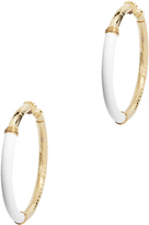 Gas Bijoux Leather Accent Hoops
