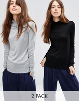 Asos Sweater With Turtleneck in Soft Yarn 2 Pack
