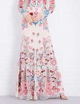 Temperley London Woodland floral-embroidered mesh skirt