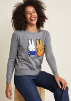 Compania Fantastica Kind of a Bunny Story Sweater in M - Long Pullover Waist by Compania Fantastica from ModCloth