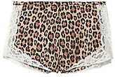 Fleur Du Mal Charlotte Leopard Print Tap Shorts