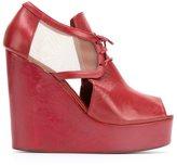 Isabela Capeto leather wedge sandals