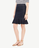 Ann Taylor Curvy Denim Peplum Pencil Skirt