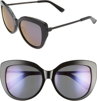 DIFF Avery 58mm Polarized Cat Eye Sunglasses