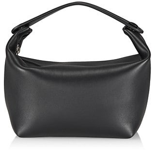 The Row Les Bains Top Handle Leather Hobo Bag