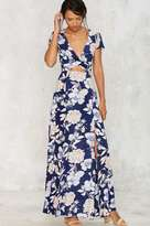Factory Need a Trim Floral Maxi Dress - Navy