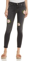 Hudson Nico Rose Embroidered Ankle Jeans in Confronted