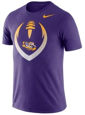 Nike Men's Lsu Tigers Dri-Fit Cotton Icon T-Shirt