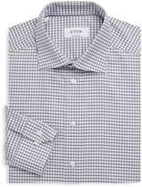 Eton Men's Contemporary-Fit Checkered Cotton Dress Shirt