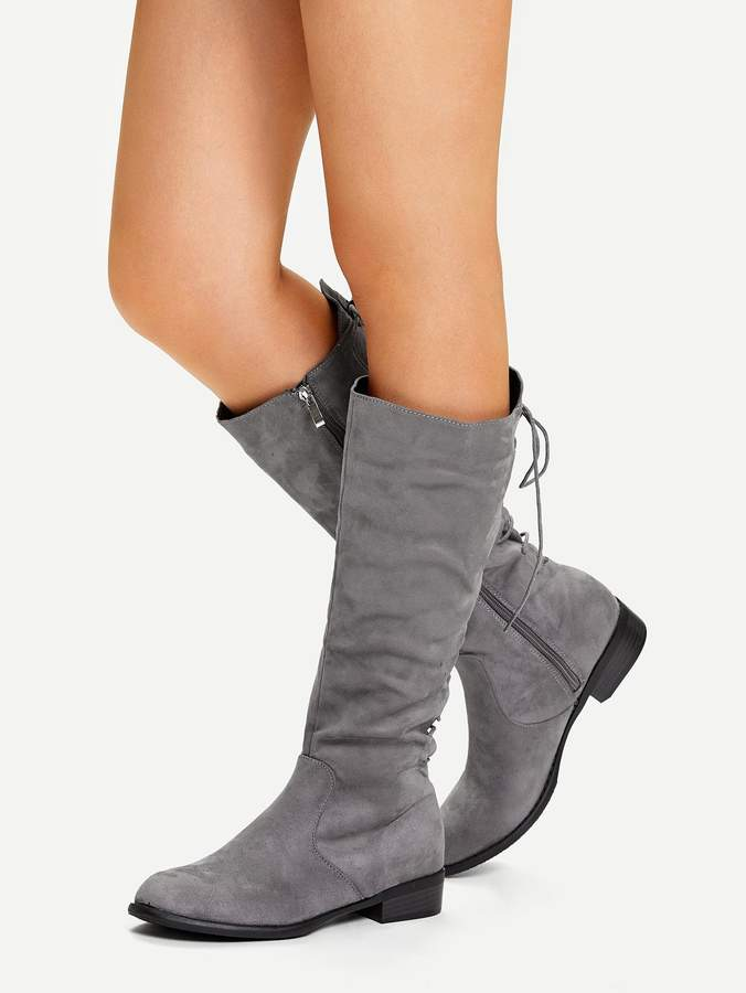 cb9946219f Knee High Lace Up Boots - ShopStyle