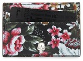 Alexander McQueen Women's Floral Sketch Leather Card Holder - Black