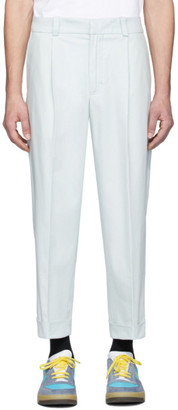Acne Studios Blue Cropped Tapered Fit Trousers
