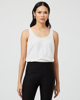 Le Château Stretch Crepe de Chine & Knit Tank Top