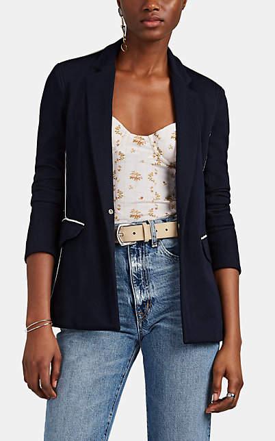 Rag & Bone Women's Sandrine Contrast-Tipped Snap-Front Blazer - Navy