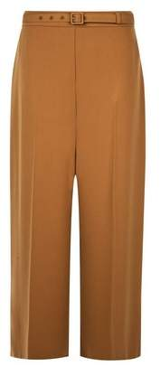 Dorothy Perkins Womens Camel Belted Wide Leg Trousers