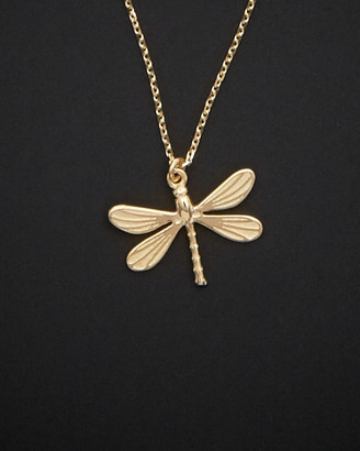 Italian Gold 14K Dragonfly Necklace