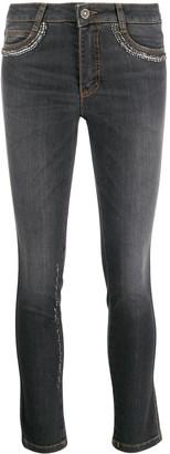 Ermanno Scervino embellished skinny jeans