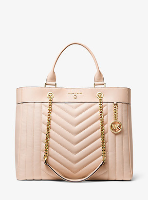 Michael Kors Susan Extra-Large Quilted Leather Convertible Tote Bag