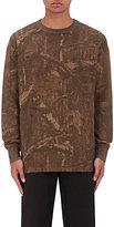 Yeezy Men's Camouflage-Print Thermal-Knit Sweatshirt-BROWN, DARK GREEN