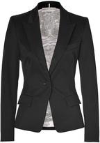 Emilio Pucci Black One Button Stretch Cotton Blazer