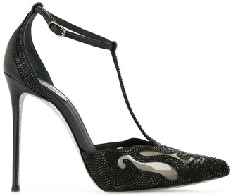 Rene Caovilla jewelled T-bar pumps