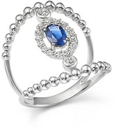 Bloomingdale's Diamond and Sapphire Double Ring in 14K White Gold
