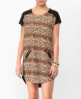 Wild Leopard Print Shift Dress