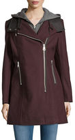 Andrew Marc Faux Leather Trim Jacket