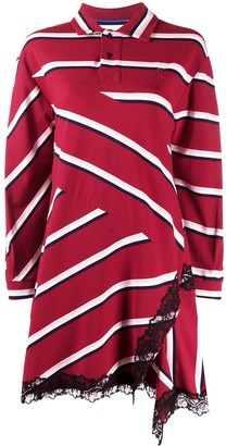 Koché Striped Oversized Polo Shirt