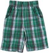 Nano Plaid Woven Shorts (Toddler/Kid) - Blue-6 Years