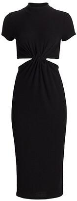 LnA Neo Cutout Ribbed Sweater Dress