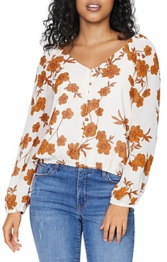 Sanctuary Meadow Floral Print Blouse