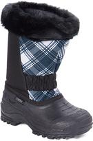 Tundra Black & White Plaid Glacier Snow Boot