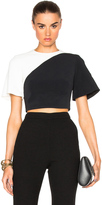David Koma Contrast Crop Top