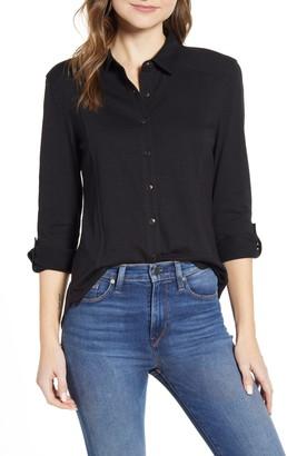 Caslon Roll Sleeve Knit Shirt
